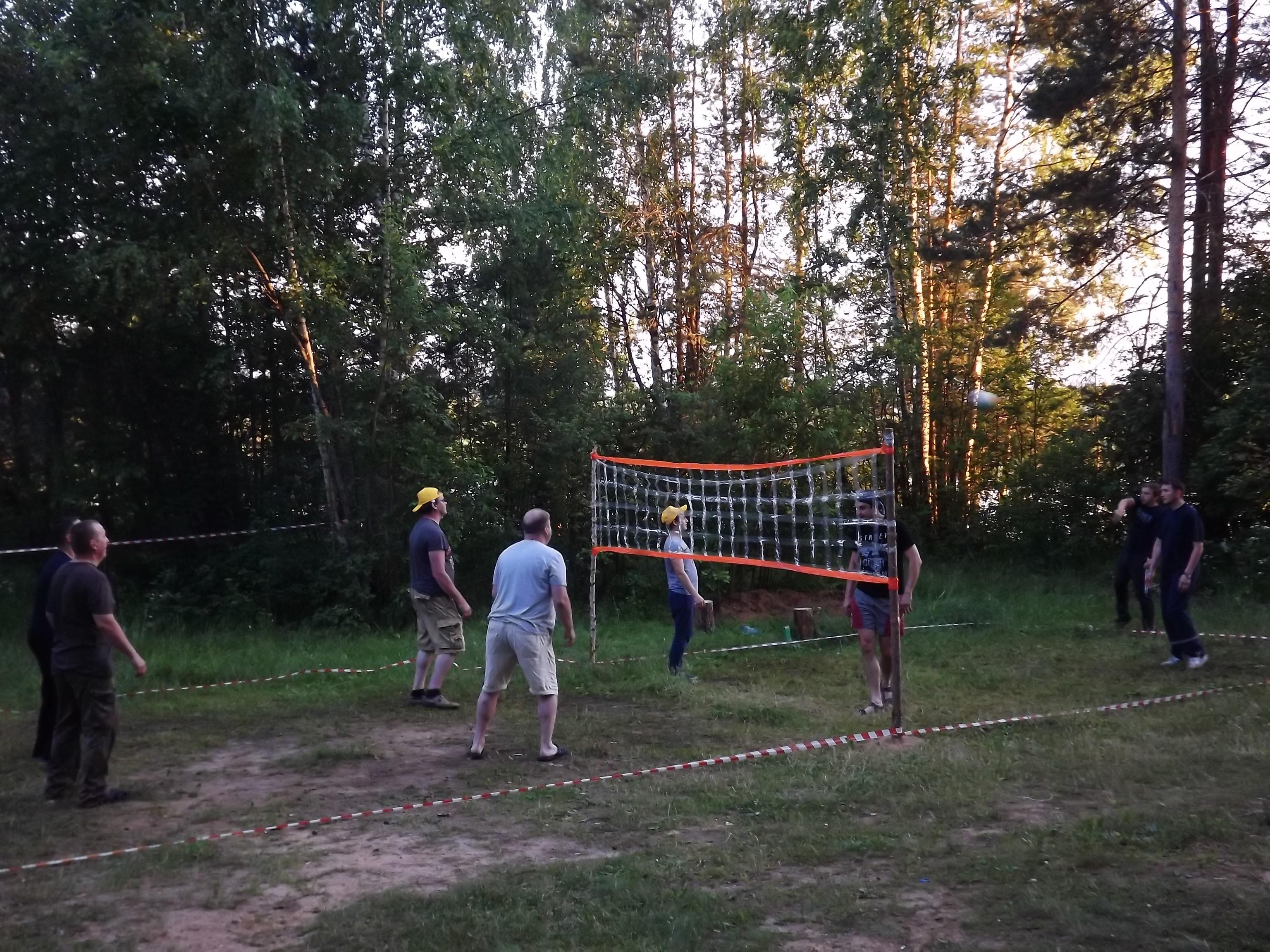 В волейбол