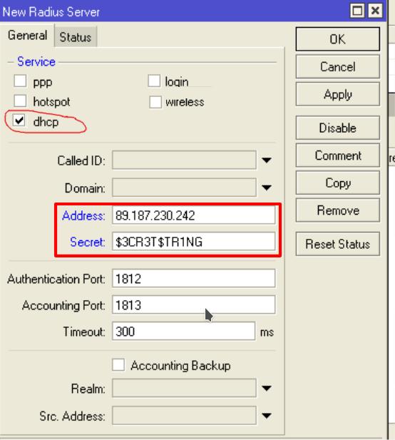 Настройка FreeRadius3 для авторизации Mikrotik DHCP+Radius
